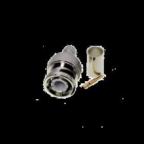BNC connector, 5 mm, crimp