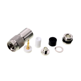TNC connector, 5 mm, clamp