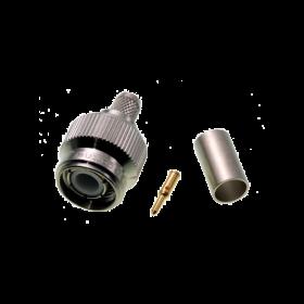 TNC connector, 5 mm, crimp
