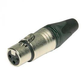 XLR cable connecor Female 3-pin, straight